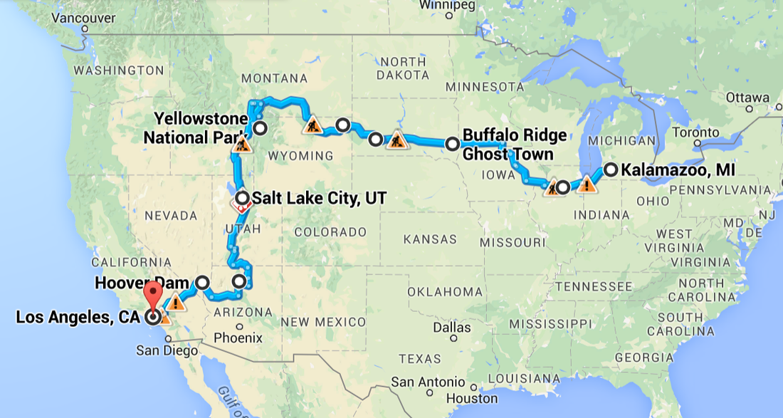 Roadtrip map