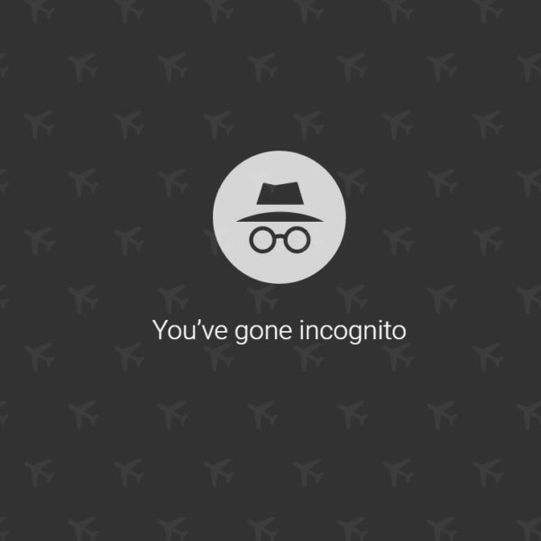 Incognito Mode Airline Hack