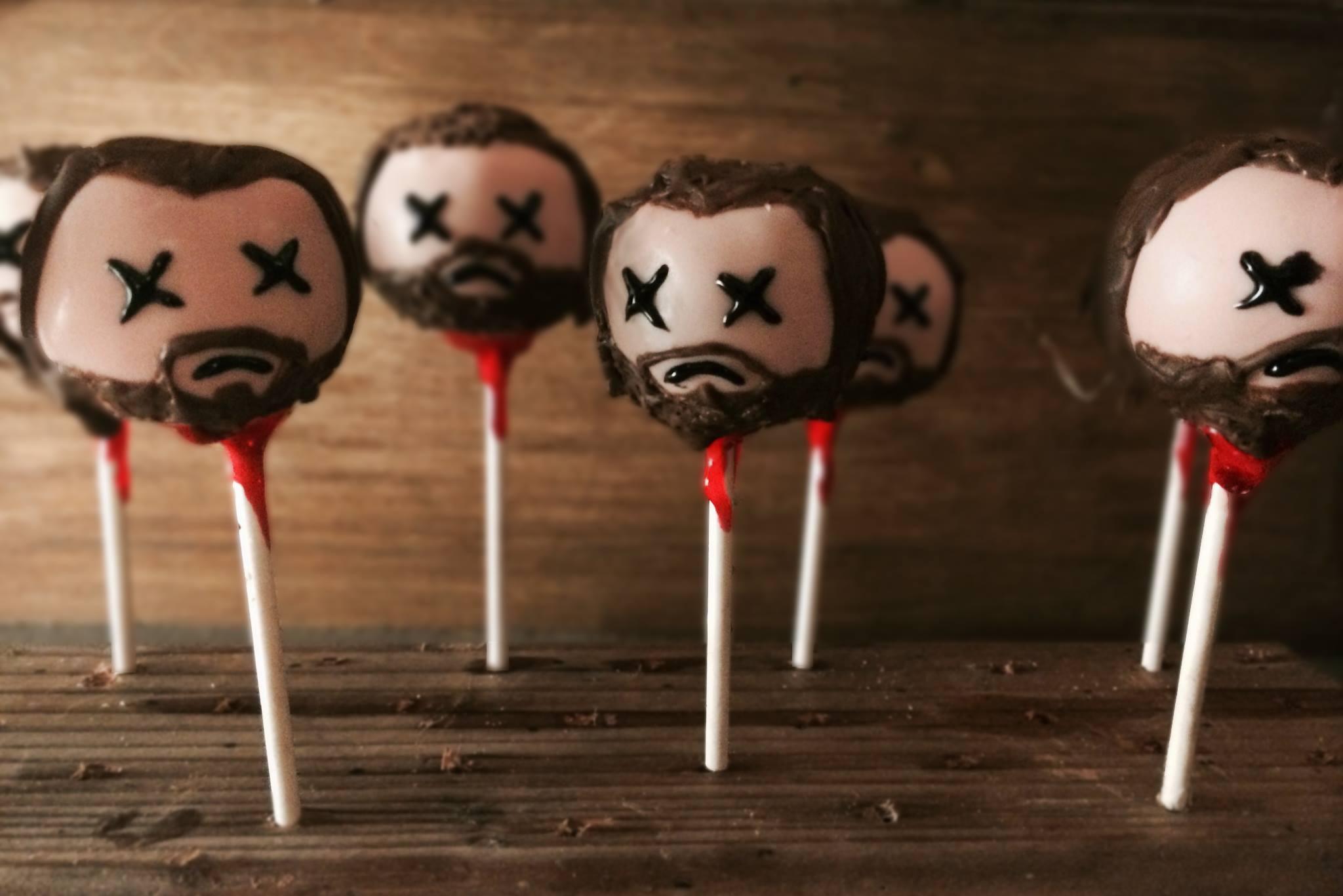 Ned Stark cake pops