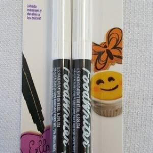 Wilton Industries 609-1192 Black Food Writer Edible Ink Markers (2-Pack)
