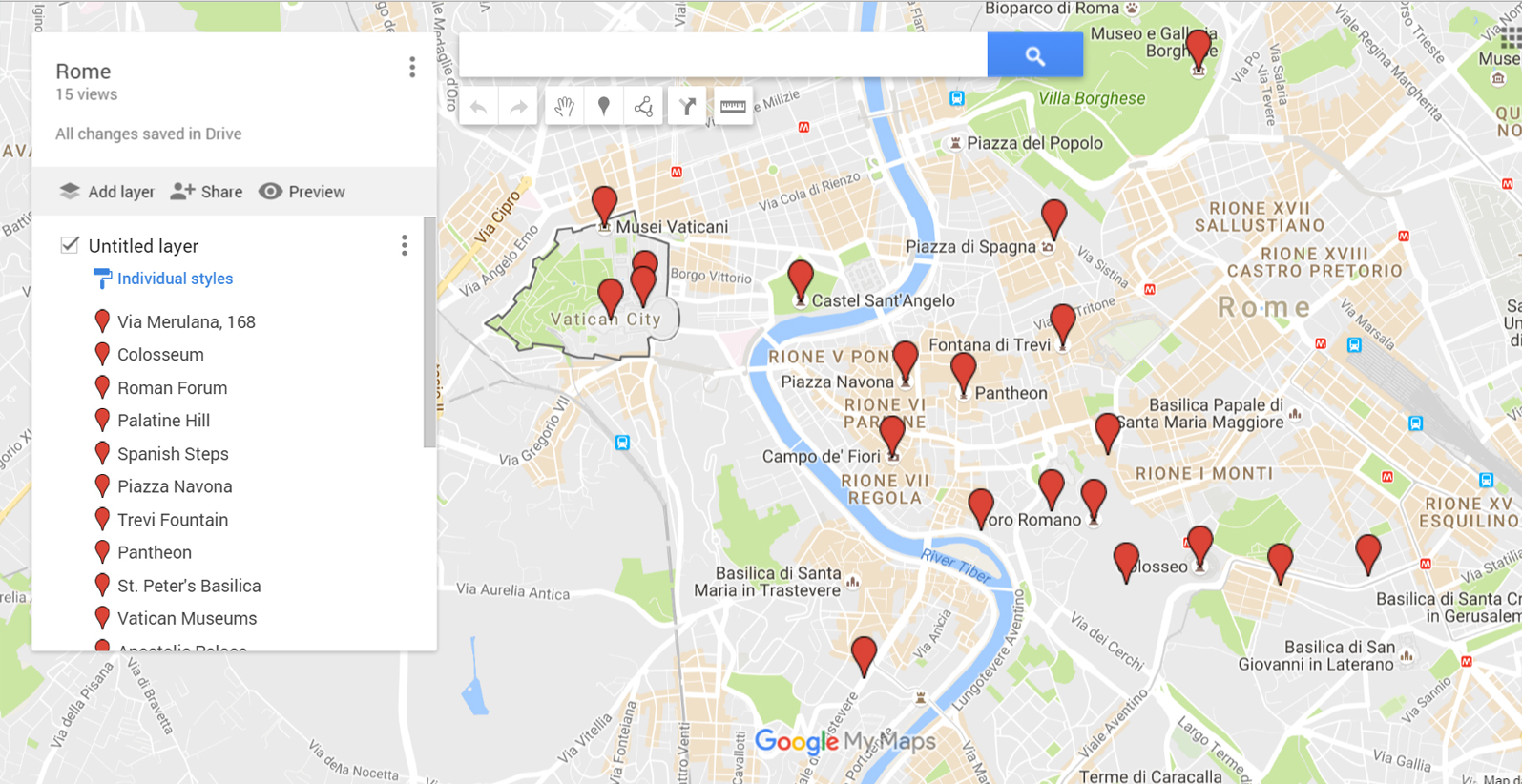 Google Maps with site markers