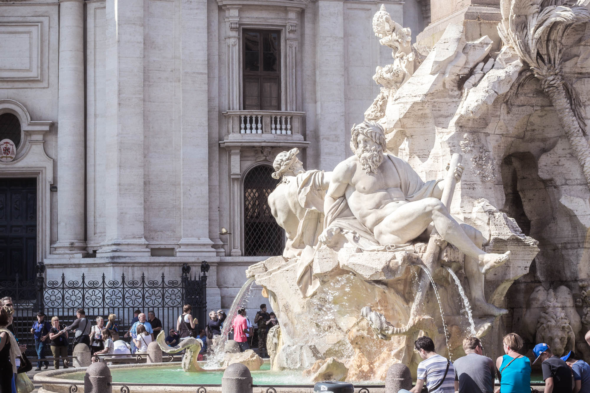 Bernini's Fountain of the Four Rivers in Rome, Italy