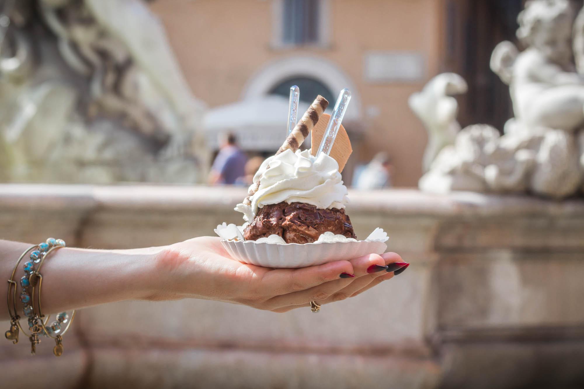 Tre Scalini dessert in Rome, Italy
