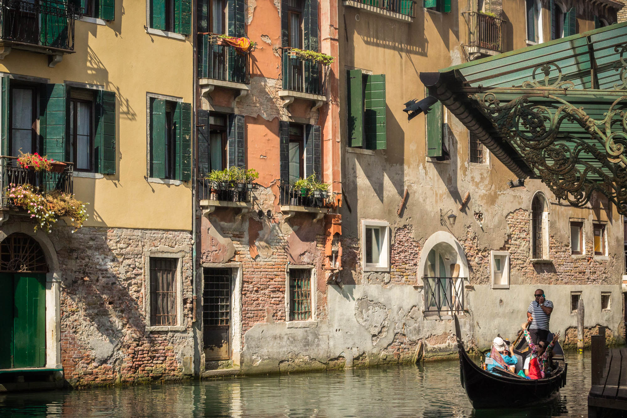 Scenic Venice and Gondola by Broke Girl's Diary