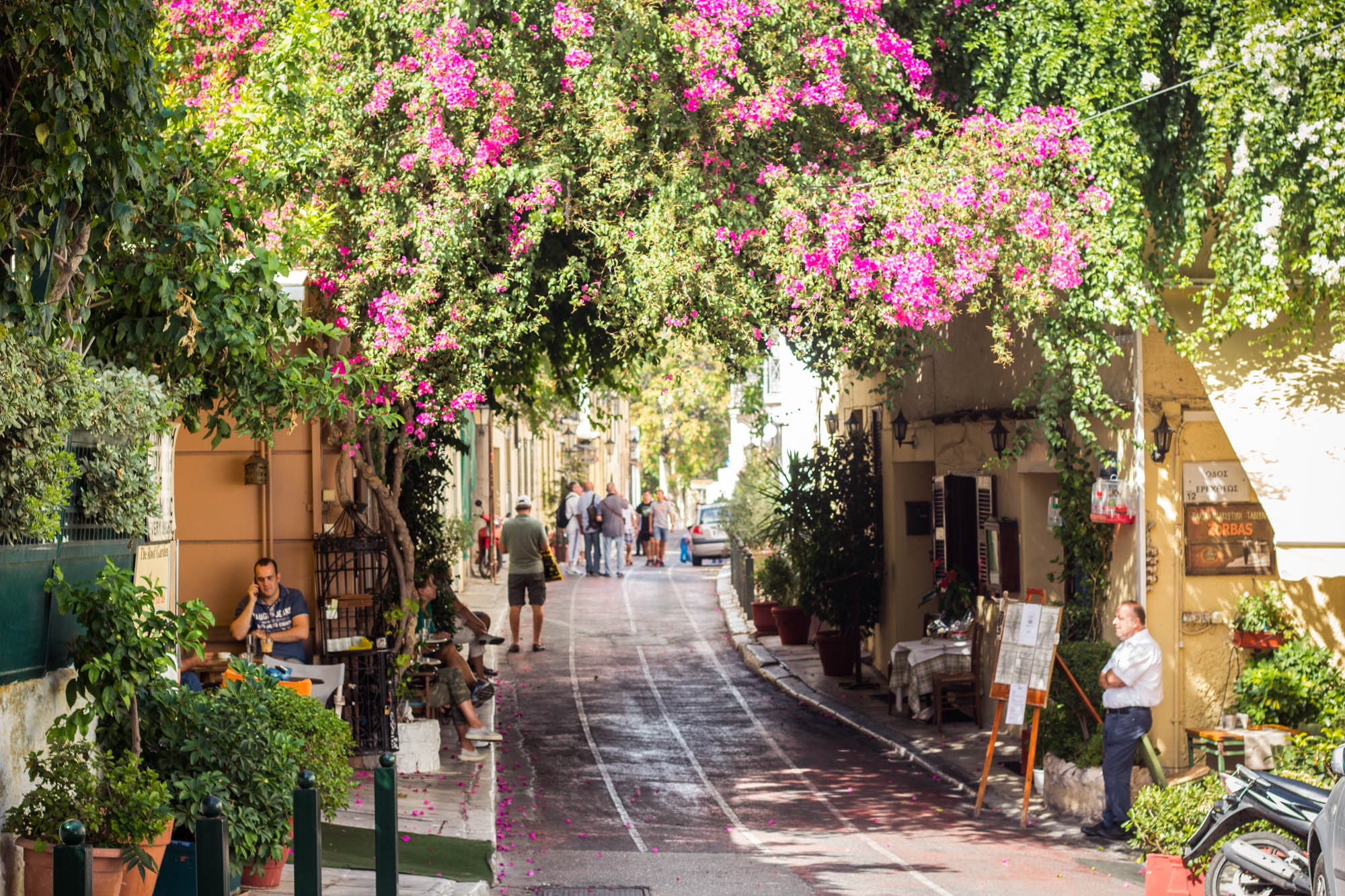 Plaka in Athens, Greece