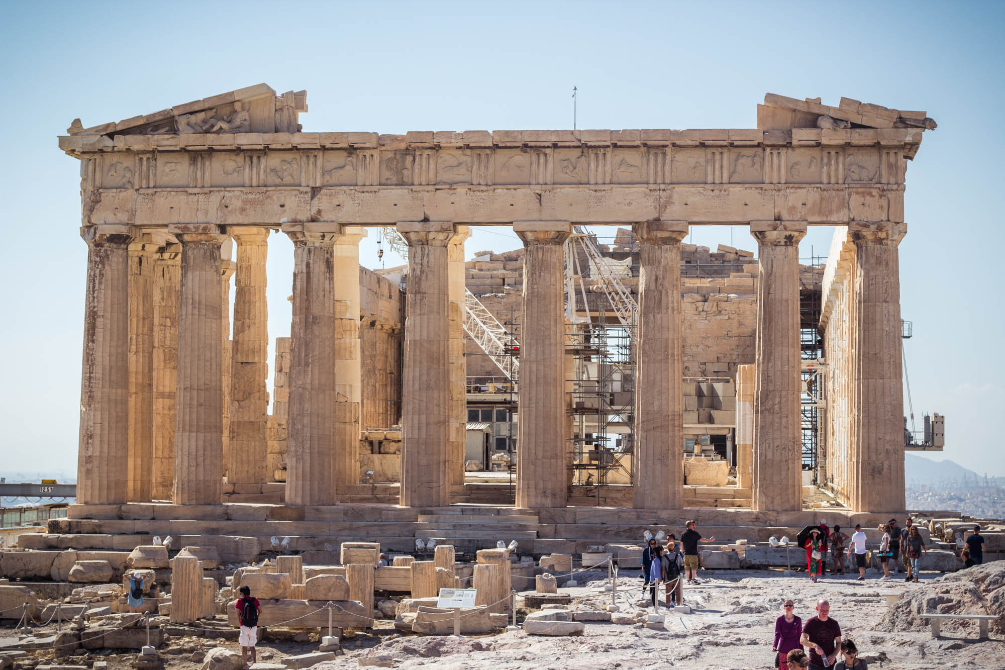 Parthenon in Acropolis in Athens, Greece