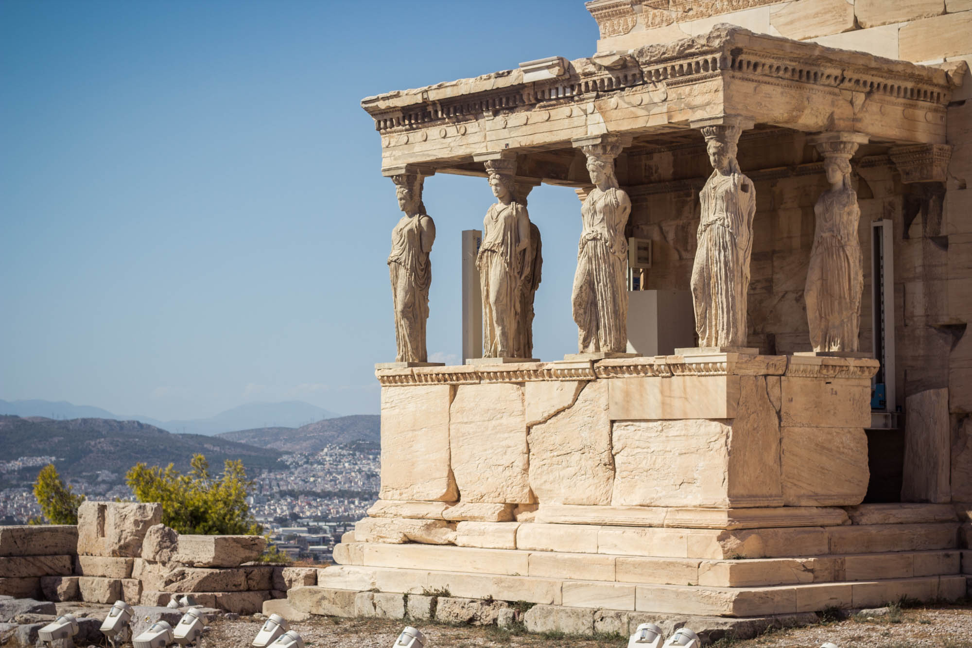 Erechtheion in Acropolis in Athens, Greece