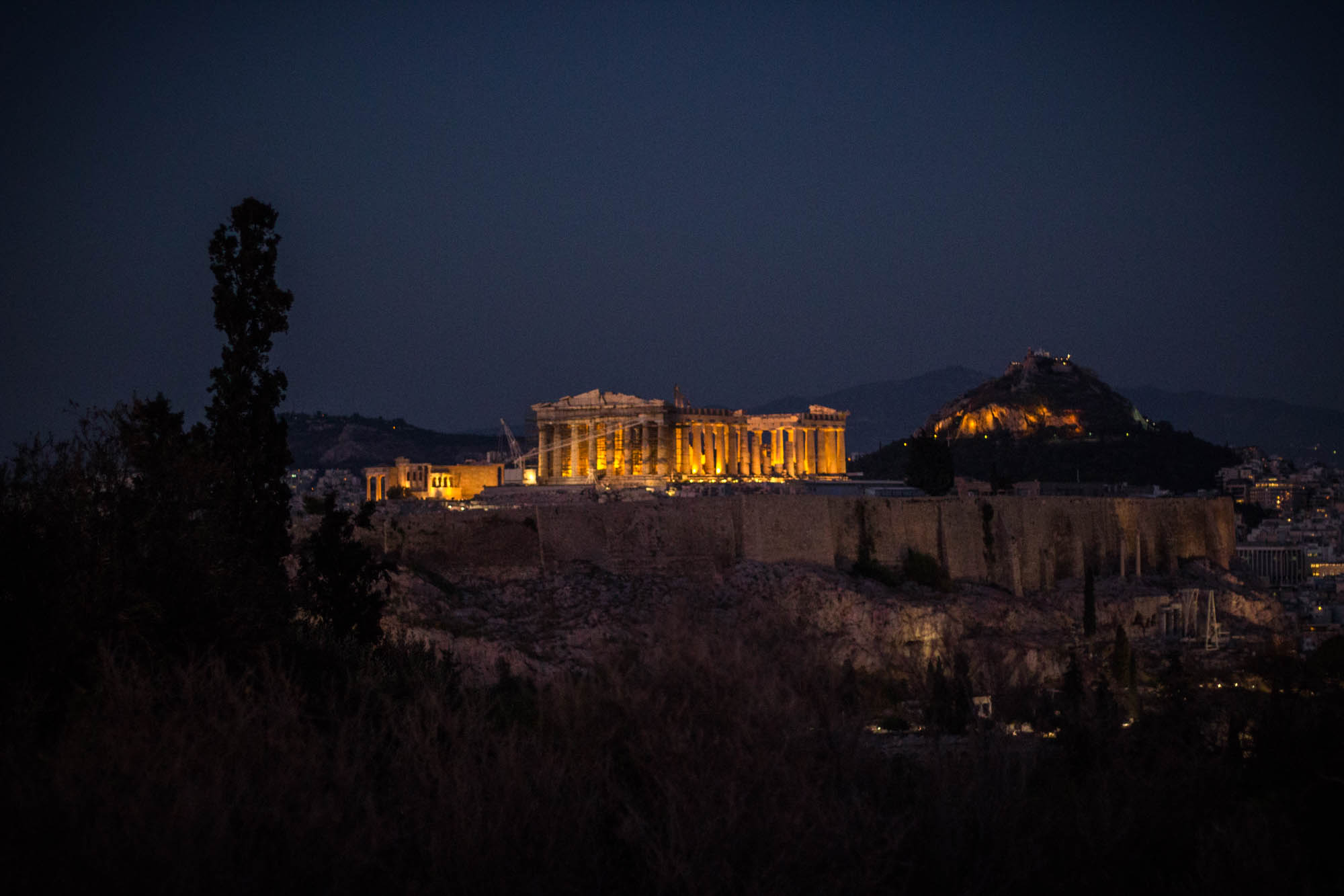 Acropolis, Athens by night