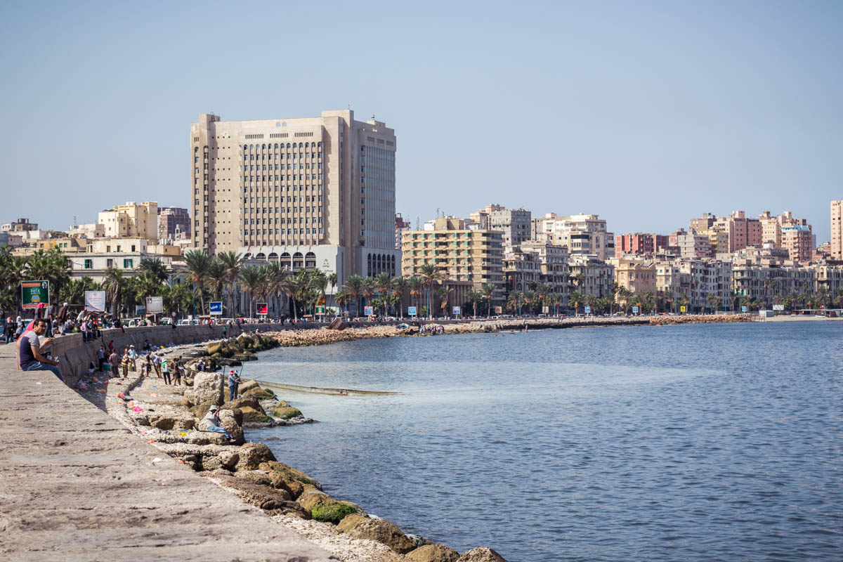 The Corniche of Alexandria, Egypt