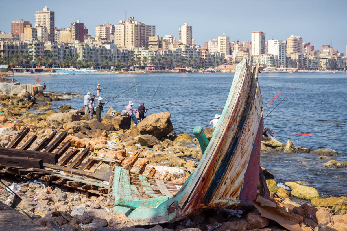 Broken boat in Alexandria, Egypt