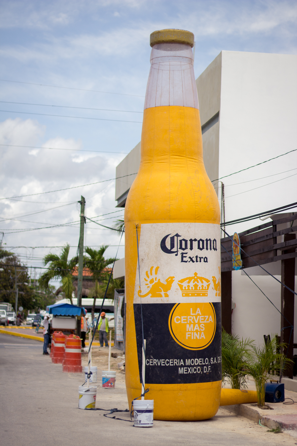 Corona on the street in Tulum, Mexico