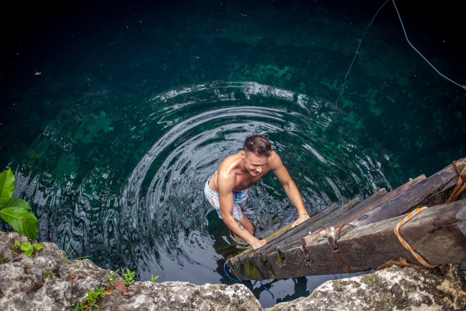 Exploring the cenotes in Tulum, Mexico