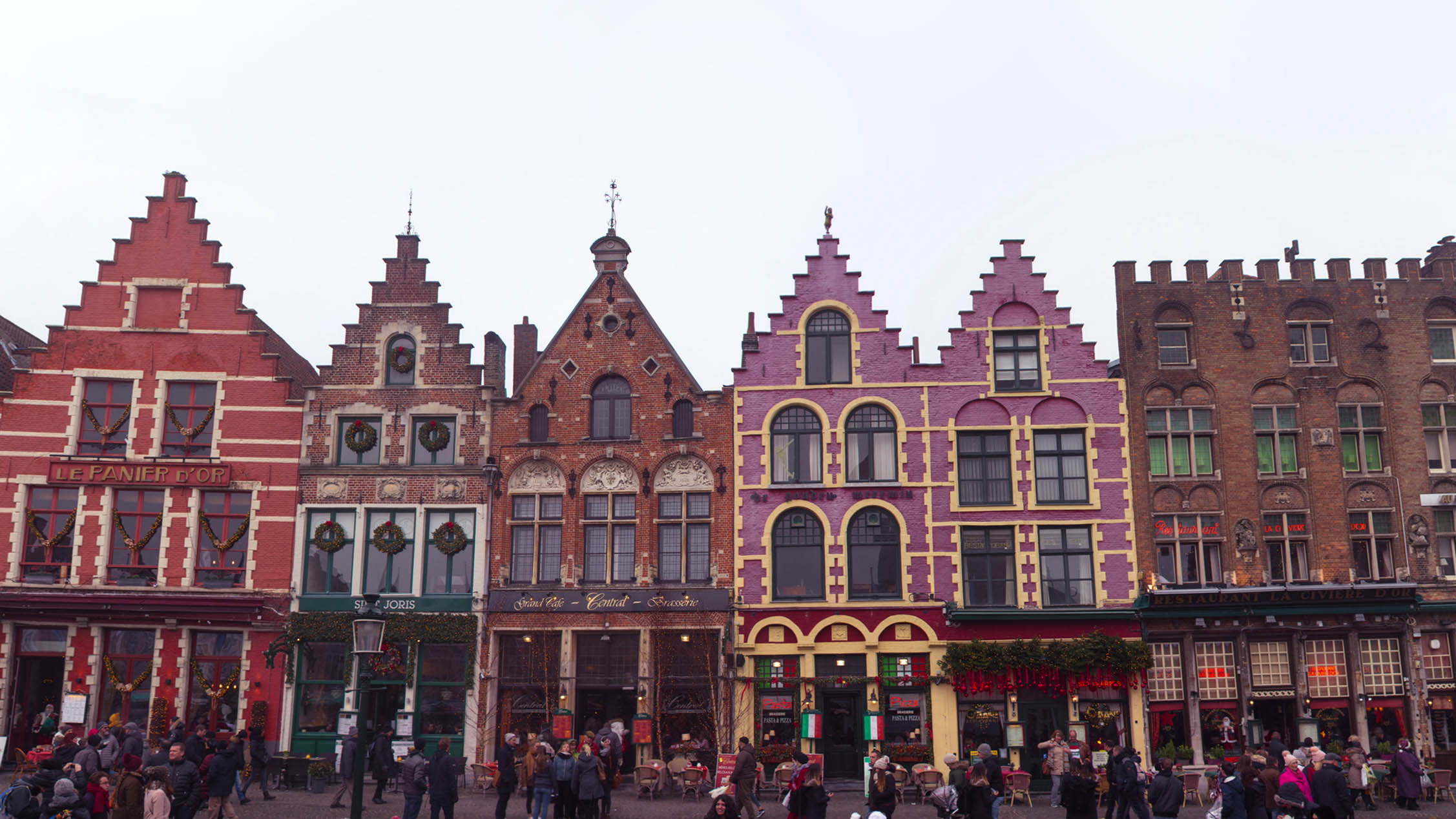 The Markt of Bruges Christmas panorama