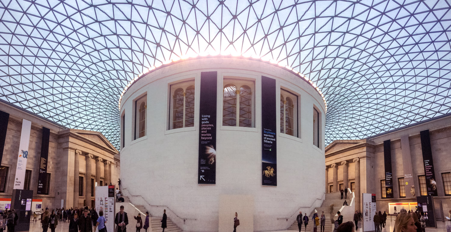The British Museum ceiling in London