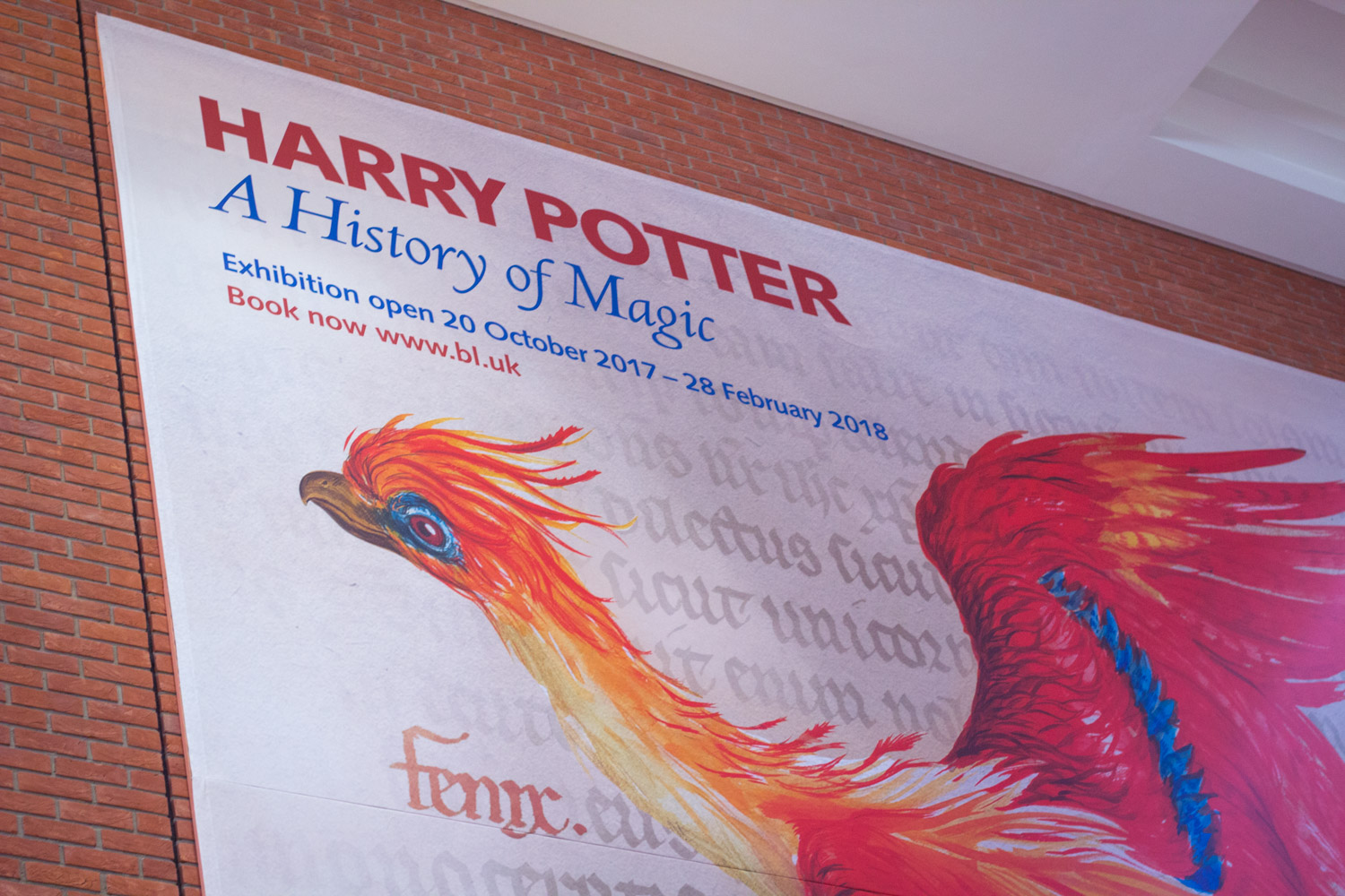 Harry Potter a History of Magic Exhibit in the British Library