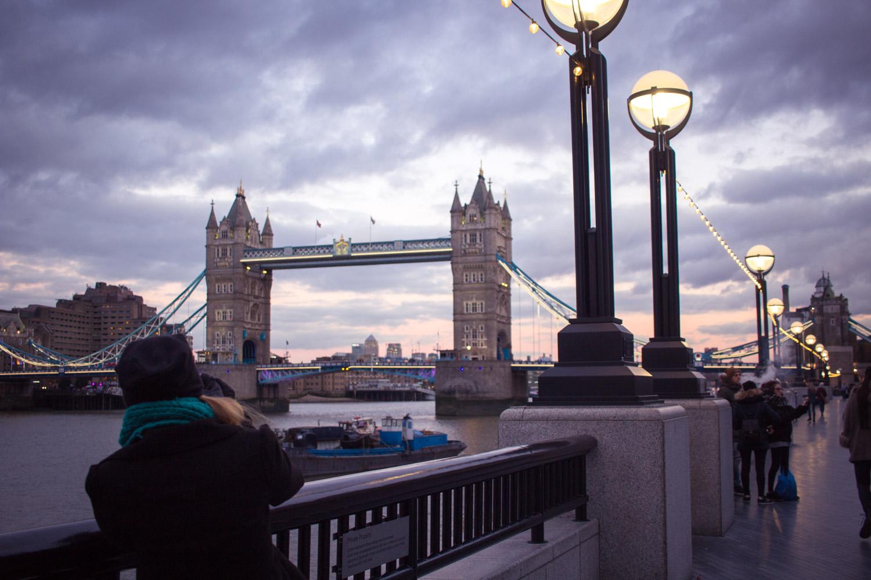 The London Bridge at night