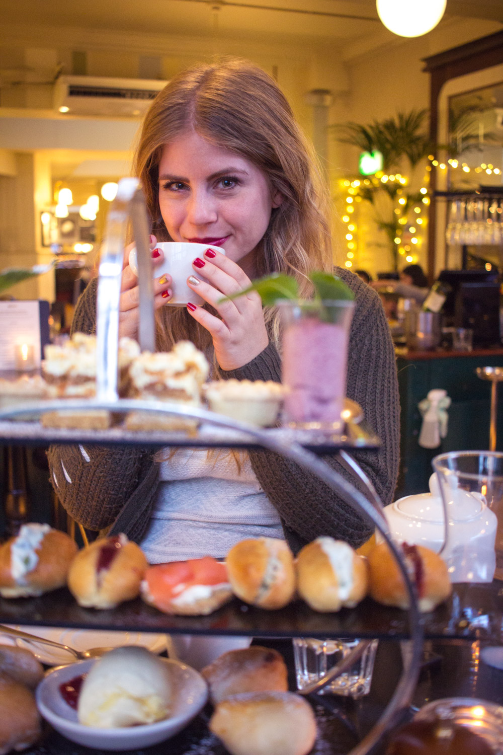 Afternoon tea in London England