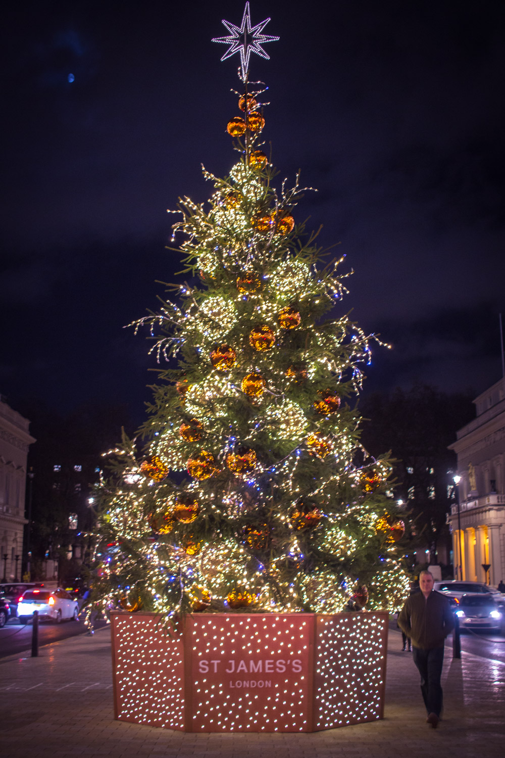 Christmas tree in St. James's London